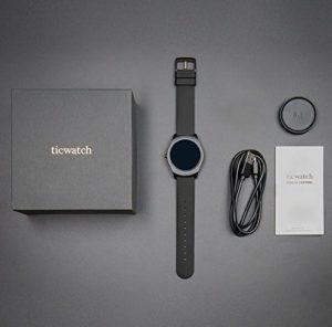 Ticwatch 2 Smartwatch - Charcoal Smart Watch for iOS and Android Devices
