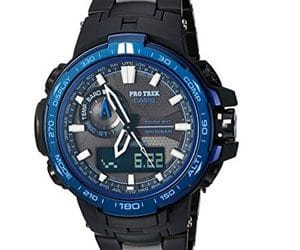 Casio-Men's 'Pro Trek' Quartz Stainless Steel and Titanium Sport Watch